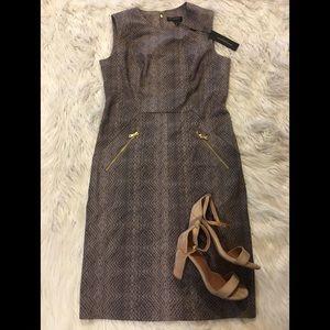 NWT *DKNY* Metal Zip Dress